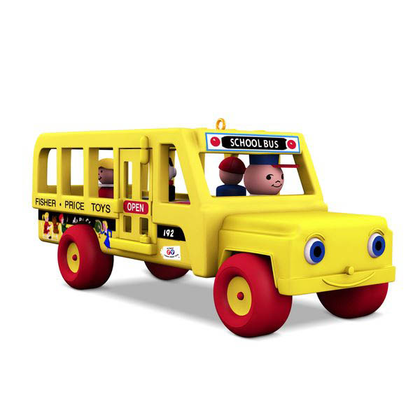 2018 School Bus, Fisher Price, Miniature