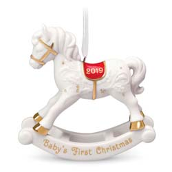 2019 Baby's First Christmas, Porcelain Rocking Horse