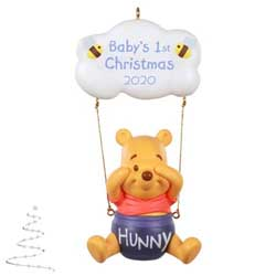 2020 Baby's First Christmas Disney Winnie the Pooh - PRE ORDER NOW - SHIPS AFTER JULY 13