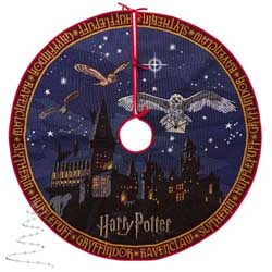 2020 Hogwarts Castle Tree Skirt, Harry Potter