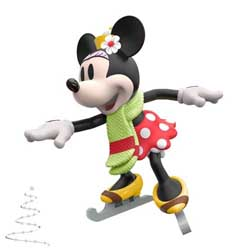 2020 Minnie on Ice, Disney Minnie Mouse, Miniature