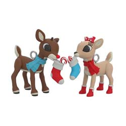 2021 Rudolph and Clarice, Rudolph the Red-Nosed Reindeer, Miniature - PRE ORDER NOW - SHIPS AFTER JULY 12
