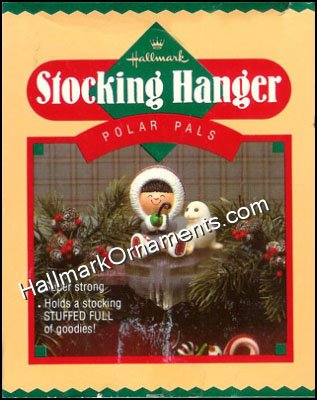 1985 Polar Pals, Frosty Friends Stocking Hanger - DB