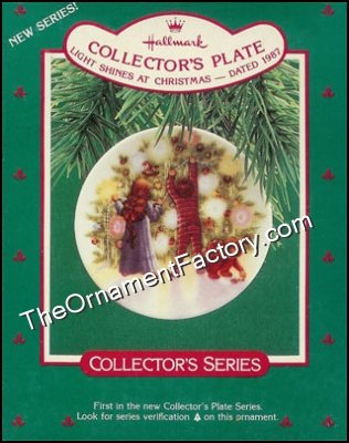 1987 Light Shines at Christmas, Collectors Plate #1