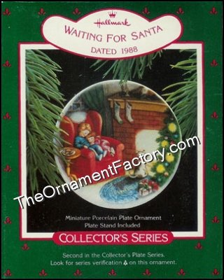 1988 Waiting for Santa, Collectors Plate #2
