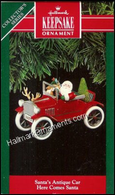 1991 Santa's Antique Car, Here Comes Santa #13 DB