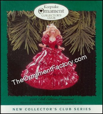 1996 Happy Holidays Barbie #1, Club Ornament DB