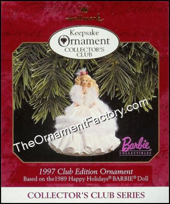 1997 Happy Holidays Barbie #2, Club Ornament