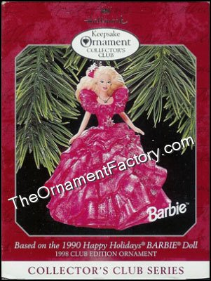1998 Happy Holidays Barbie #3, Club Ornament - DB