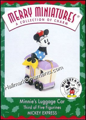 1998 Merry Miniatures - Minnie's Luggage Car, Disney