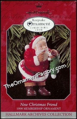 1998 New Christmas Friend, Club Ornament