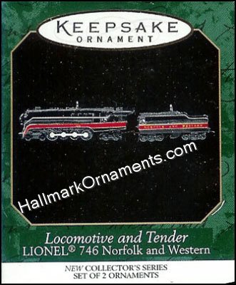 1999 Locomotive and Tender, Lionel 746 Norfolk and Western, Mini