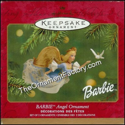 2001 Barbie Angel Ornament DB
