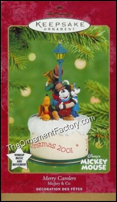 2001 Merry Carolers, Mickey and Co, Disney