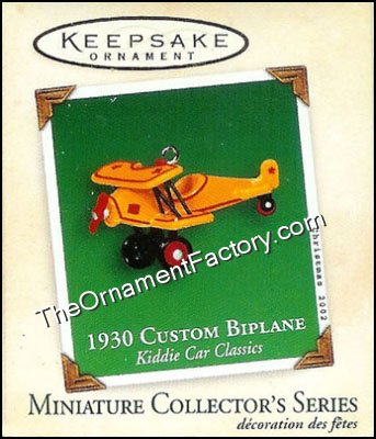 2002 1930 Custom Biplane, Kiddie Car Classics Miniature