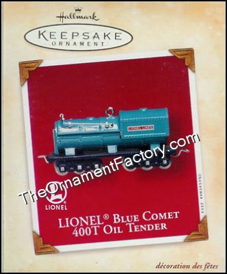 2002 Lionel Blue comet 400T Oil Tender