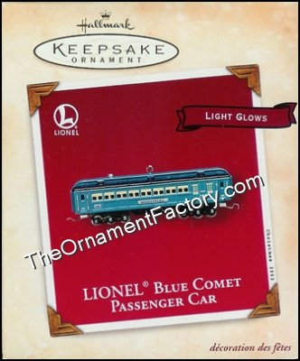 2002 Lionel Blue Comet Passenger Car, Lighted, RARE