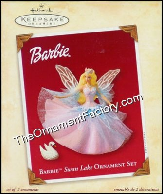 2003 Barbie Swan Lake Ornament Set