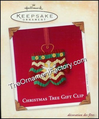 2003 Christmas Tree Gift Clip