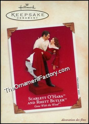 2003 Scarlett O'Hara and Rhett Butler, Gone With the Wind, RARE - DB