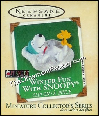2003 Winter Fun With Snoopy #6, Miniature, Peanuts