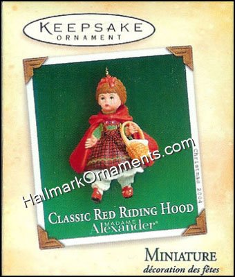 2004 classic red riding hood madame alexander miniature for Classic house 2004