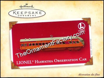 2004 Lionel Hiawatha Observation Car DB
