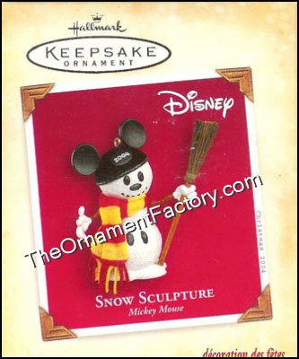 2004 Snow Sculpture, Mickey Mouse