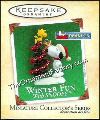 2004 Winter Fun With Snoopy #7, Peanuts, Miniature DB