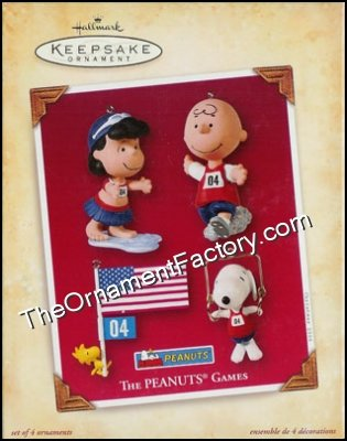 2004 Peanuts Games, Set of 4 Ornaments