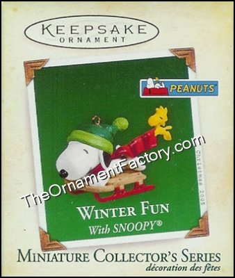 2005 Winter Fun with Snoopy #8, Miniature, PEANUTS