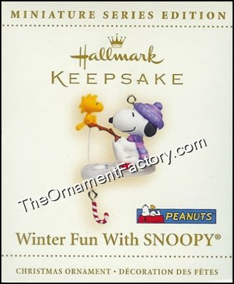 2006 Winter Fun With Snoopy #9, Miniature, PEANUTS