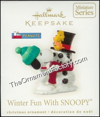 2008 Winter Fun With Snoopy, #11 Miniature, PEANUTS