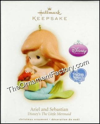 2009 Ariel and Sebastian, Disney, Precious Moments, Hard to Find