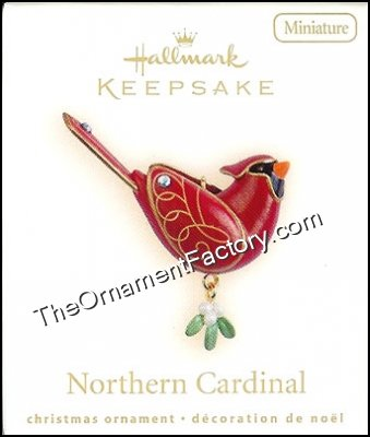 2009 Northern Cardinal, Miniature, Rare