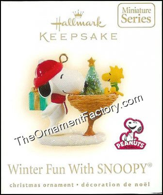 2009 Winter Fun with Snoopy, #12, Miniature, PEANUTS