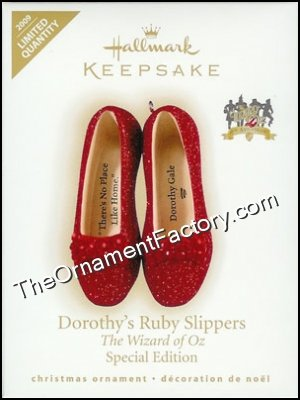 2009 Dorothy's Ruby Slippers, The Wizard of Oz, LIMITED QUANTITY DB
