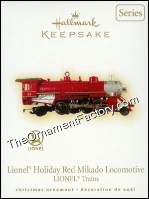 2009 Lionel #14 - Holiday Red Mikado Locomotive, Lionel Trains