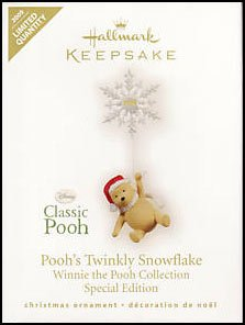 2009 Poohs Twinkly Snowflake, LIMITED QUANTITY