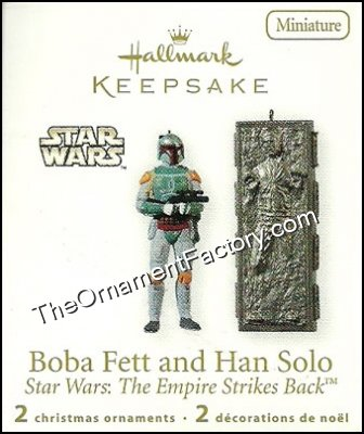 2010 Boba Fett and Han Solo, Star Wars - Miniature