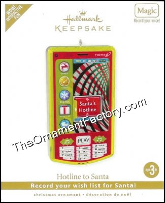 2010 Hotline to Santa, Cell Phone, RECORDABLE