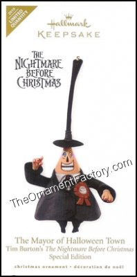 Hallmark Nightmare Before Christmas Ornaments.2010 Mayor Of Halloween Town Nightmare Before Christmas Lq