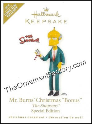 2010 Mr Burns' Christmas Bonus, The Simpsons, SDCC - Rare! DB