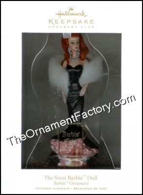 2010 The Siren Barbie Doll, Club Ornament