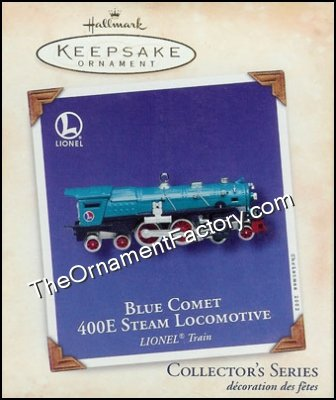2002 Lionel #7 - Blue Comet 400E Steam Locomotive, Lionel Trains
