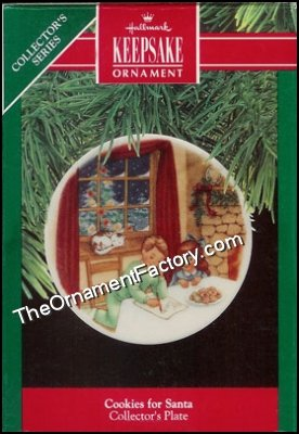 1990 Cookies for Santa, Collectors Plate #4