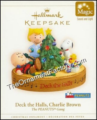 2006 Deck the Halls Charlie Brown, PEANUTS, Magic DB