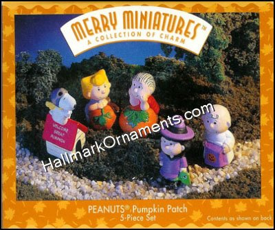 1996 Peanuts Pumpkin Patch, Merry Miniatures, Halloween