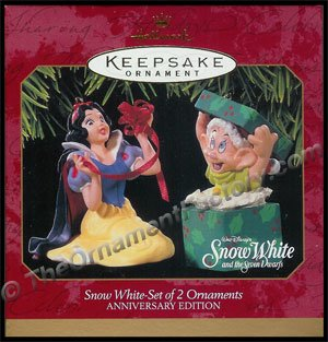 1997 Snow White - Set of 2 Ornaments
