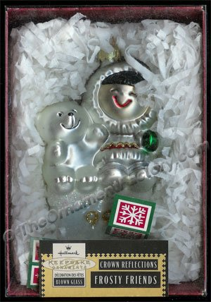 1999 Frosty Friends, Blown Glass